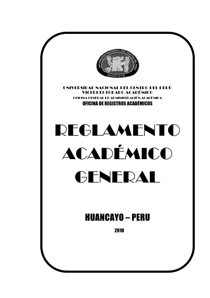 Reglamento academico
