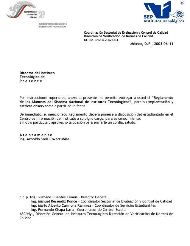 Coordinación Sectorial de Evaluación y Control de Calidad Dirección de Verificación de Normas de Calidad Of. No. 612.4.2.4...