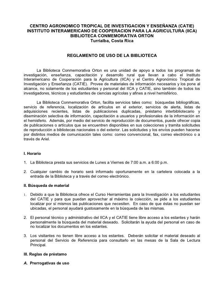 Reglamento bco 2011