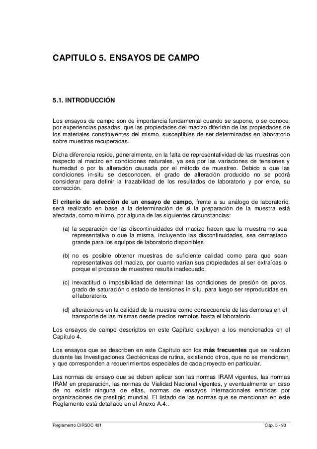 CAPITULO 5. ENSAYOS DE CAMPO 5.1. INTRODUCCIÓN Los ensayos de campo son de importancia fundamental cuando se supone, o se ...