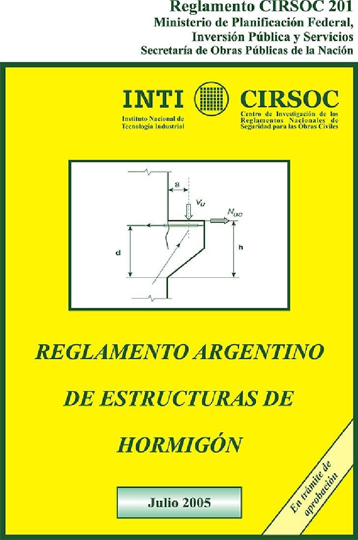 Reglamento Cirsoc 201