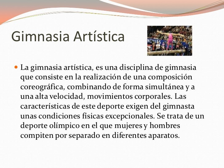 Gimnasia art stica for Concepto de gimnasia