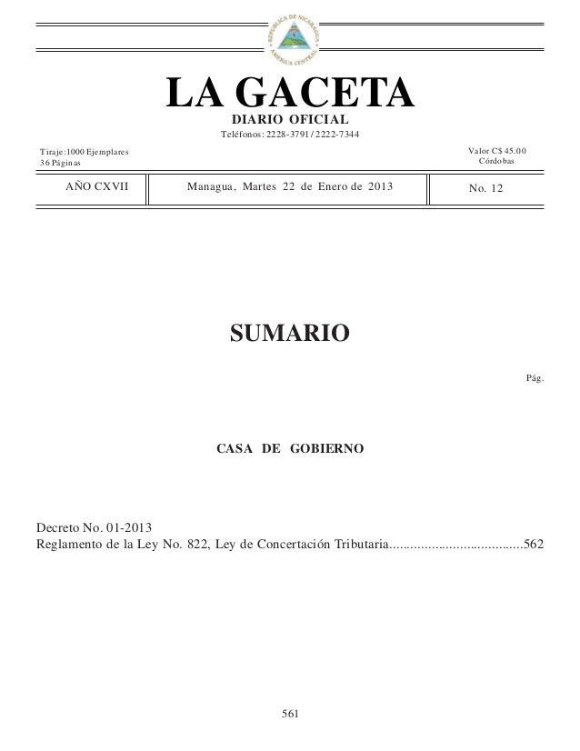 LA GACETA    DIARIO OFICIAL                                    Teléfonos: 2228-3791 / 2222-7344Tiraje:1000 Ejemplares     ...