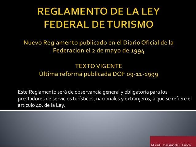 ley federal de turismo mexicana: