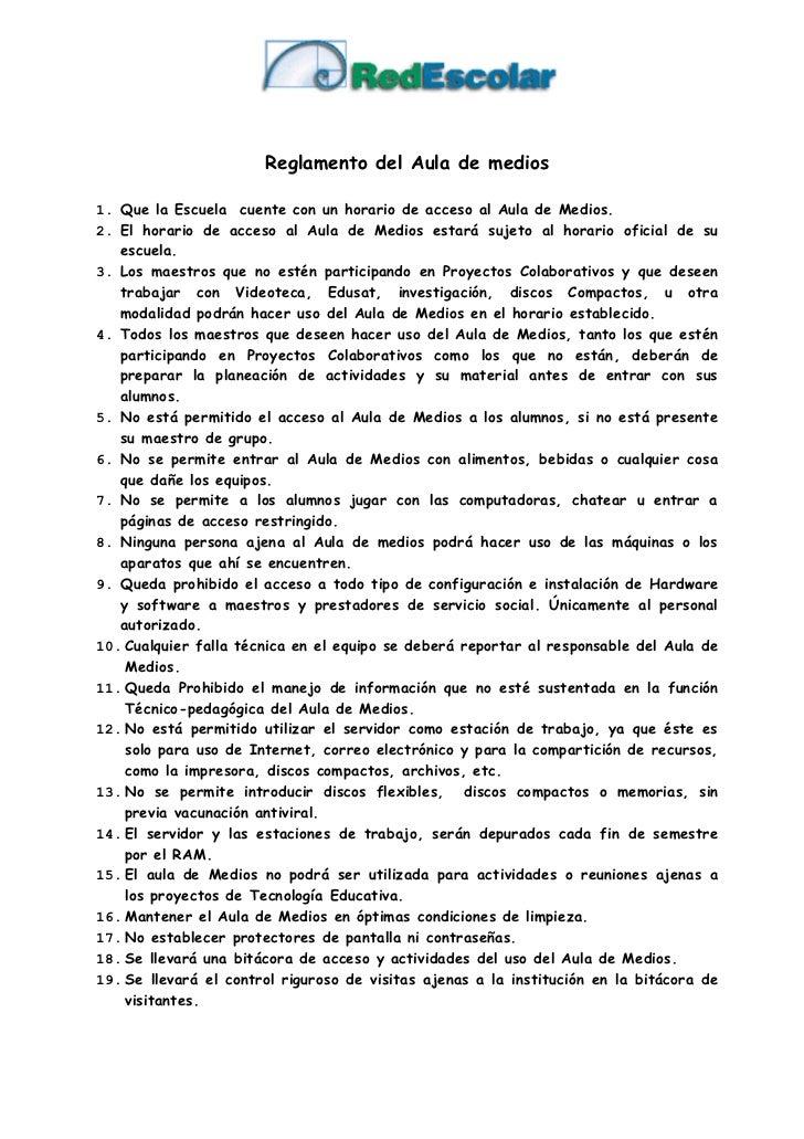 Reglamento del aula de medios for 10 reglas del futbol de salon