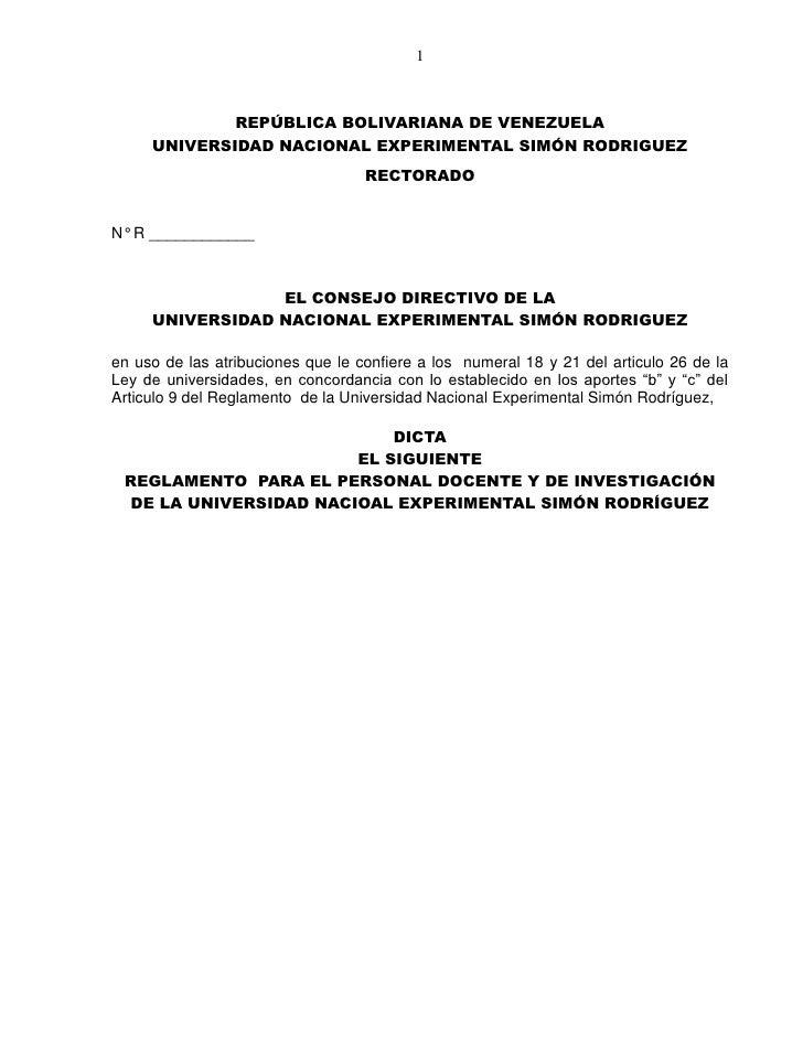 1             REPÚBLICA BOLIVARIANA DE VENEZUELA     UNIVERSIDAD NACIONAL EXPERIMENTAL SIMÓN RODRIGUEZ                    ...