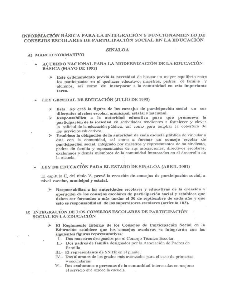 Reglamento del consejo de participacion social