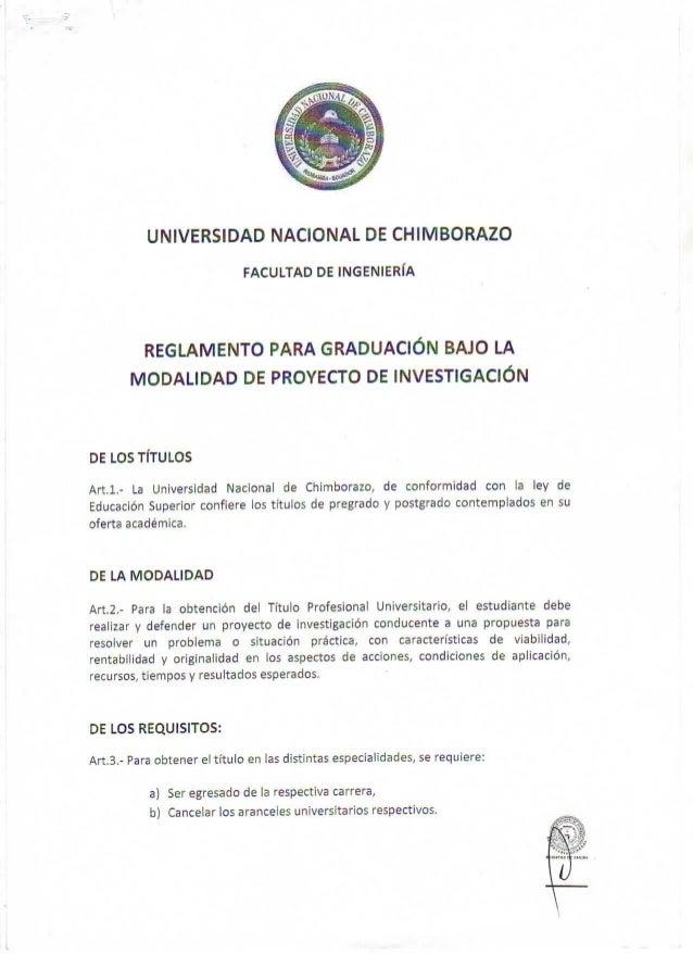 Reglamento graduación