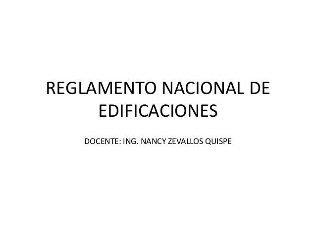 Reglamento nacional de edificaciones clase2
