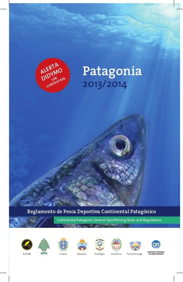 Reglamento Pesca Patagonia 2013 2014