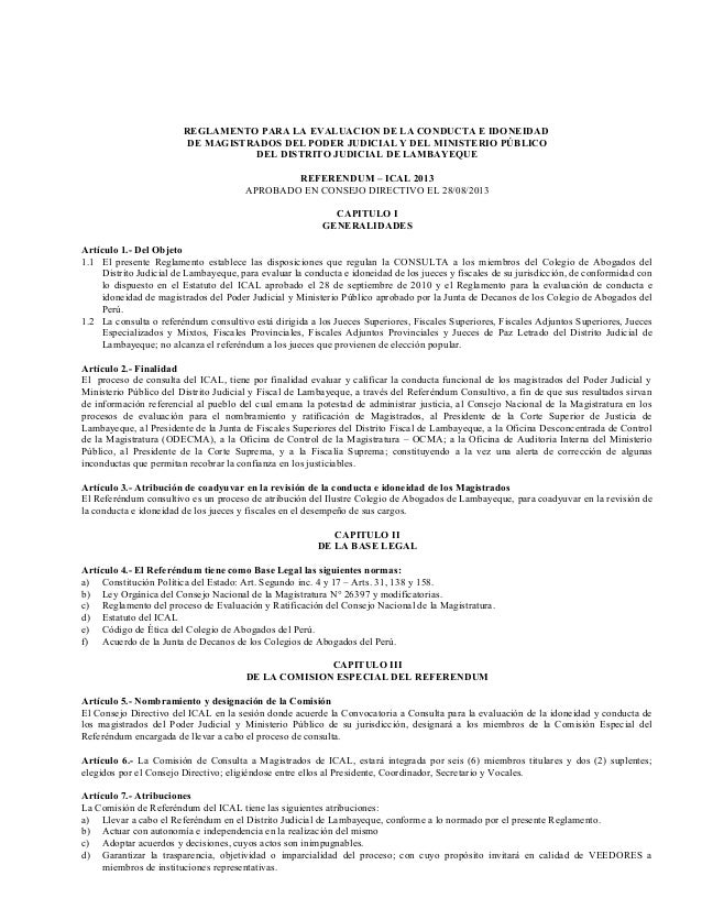 Reglamento Referéndum 2013