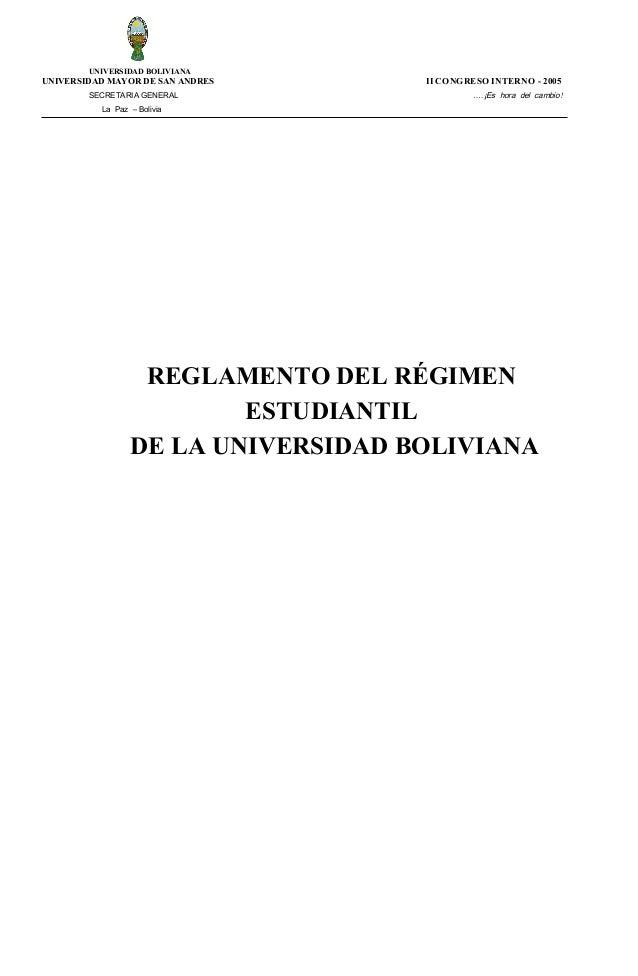 Reglamento regimen estudiantil