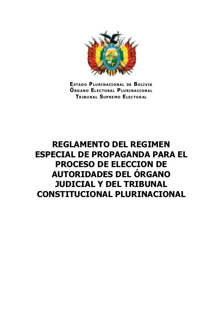 Reglamento régimen especial de propaganda aprobado 30 de junio 2011