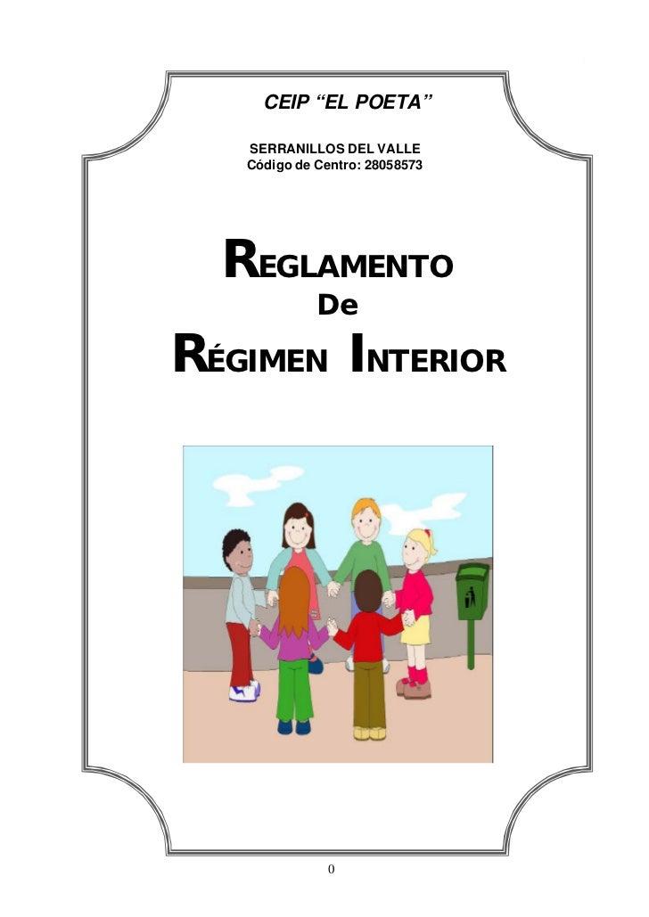 Reglamento régimen interno 10 11