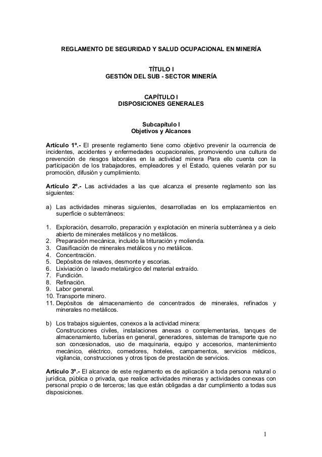 Reglamento seguridad y salud ocupacional  09 08 version publicada