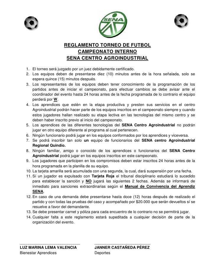 Reglamento torneo interno de futbol for 5 reglas del futbol de salon