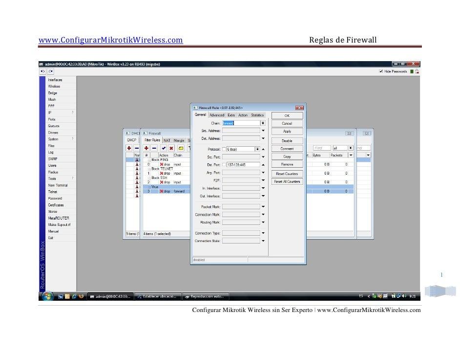 www.ConfigurarMikrotikWireless.com                                            Reglas de Firewall                          ...