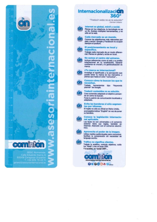 Reglas COMINTON para un marketing internacional 360º