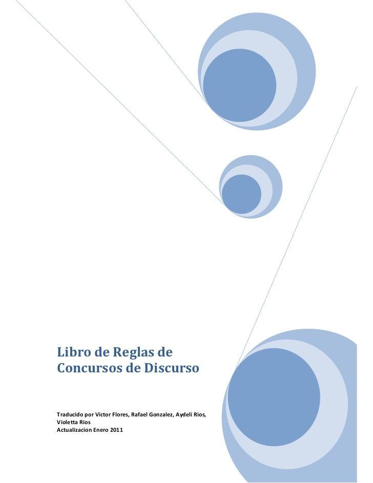 Reglas de concursos. actualización. julio. 2011