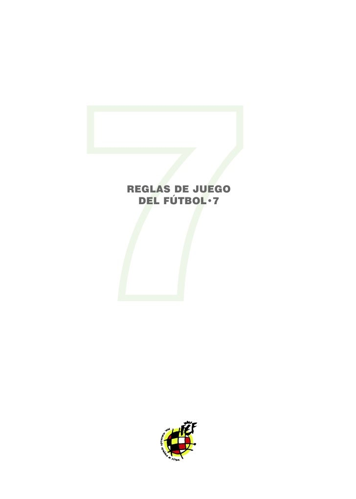 Reglas de futbol 7 rfef