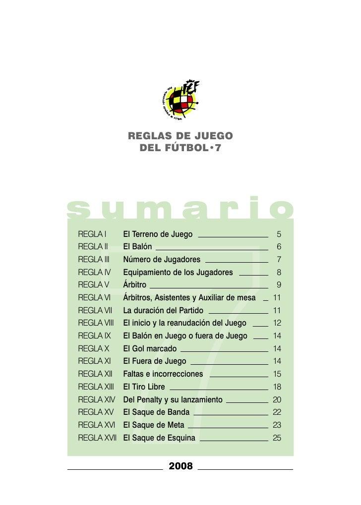Reglas de futbol 7 rfef for Regla de fuera de juego en futbol