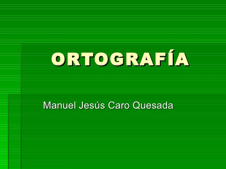 Ortografía básica