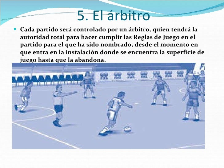 Reglas del futbol de salon for 5 reglas del futbol de salon