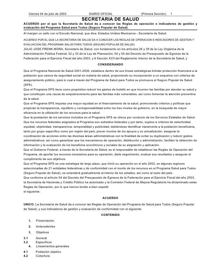 Viernes 04 de julio de 2003              DIARIO OFICIAL                        (Primera Sección)    1                     ...