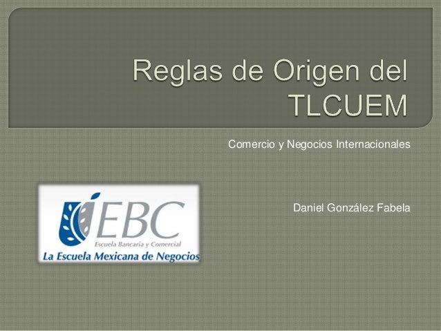 Comercio y Negocios Internacionales Daniel González Fabela