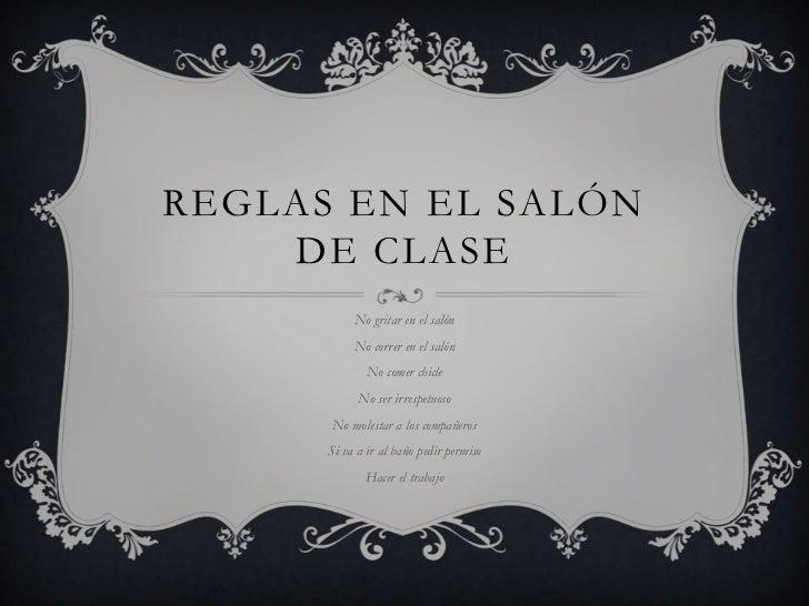 Reglas en el sal n de clase for 5 reglas del salon de clases