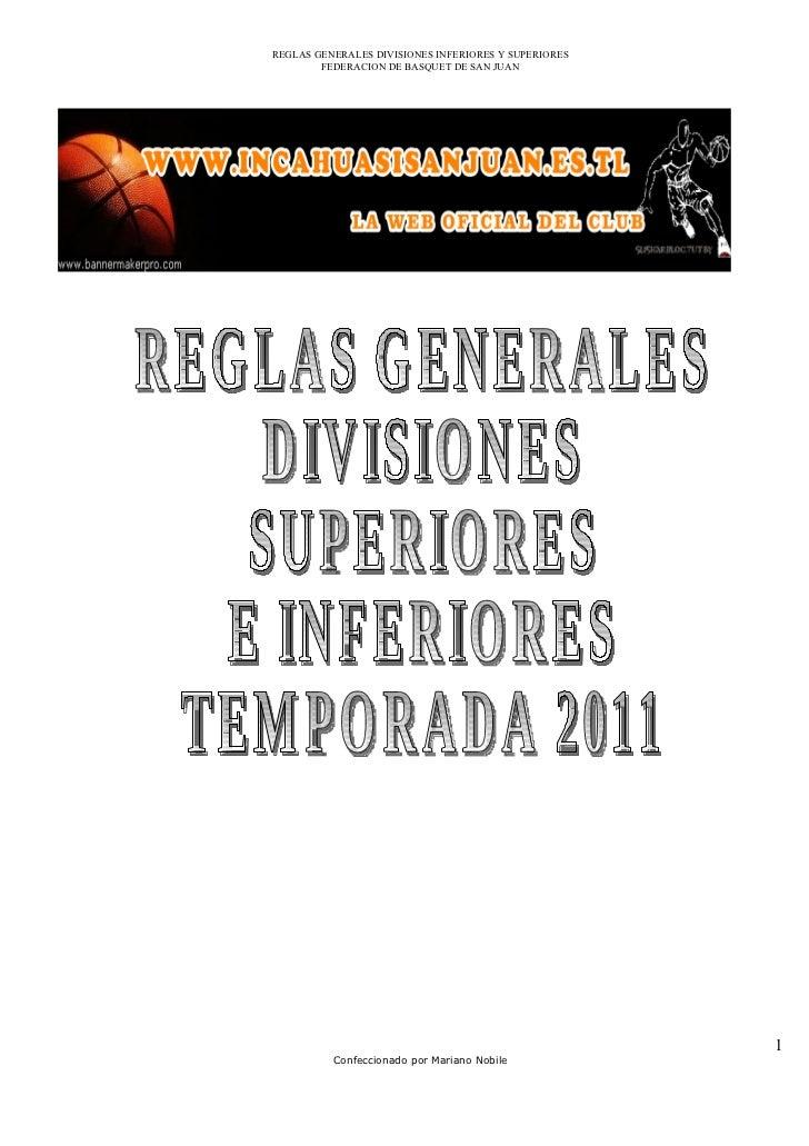 Reglasgeneralestemporada2011 110322105522-phpapp01