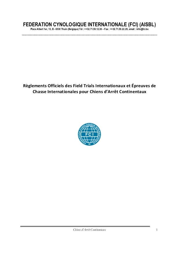 Reglements fci fields trial internationaux