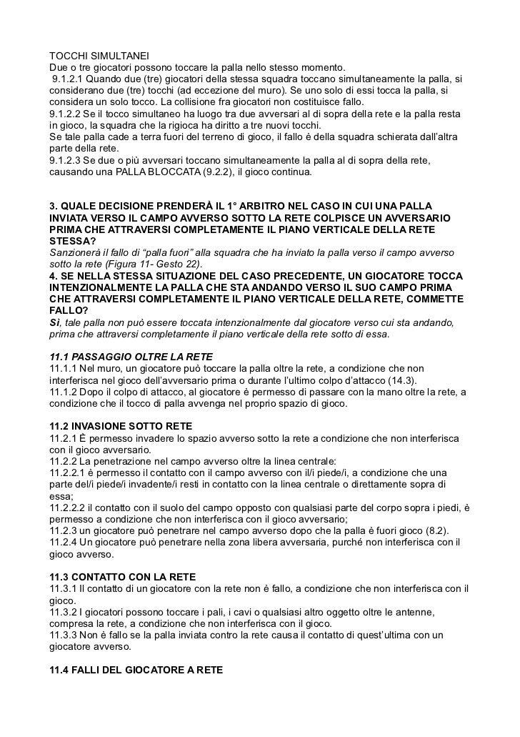 Alcune regole di pallavolo