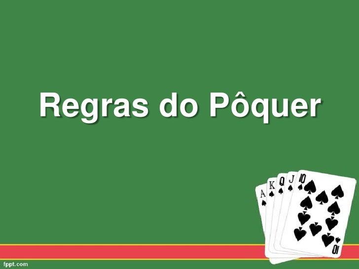 Regras do Pôquer<br />