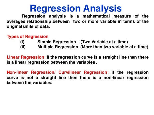 interest rate forecasting using regression analysis Trend analysis in forecasting  like property prices and future interest rate hikes  and calculations to perform regression analysis,.