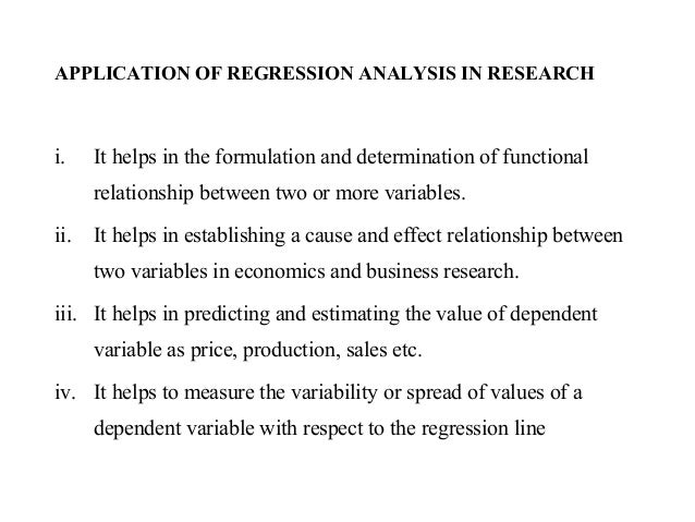Regression analysis in research
