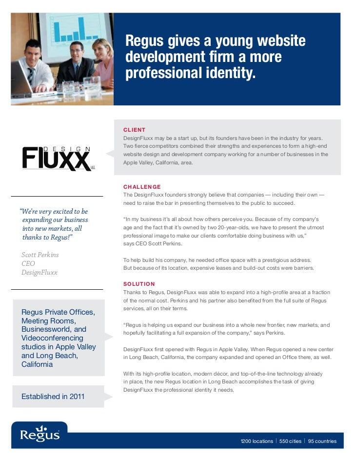 Regus Case Study - DesignFluxx