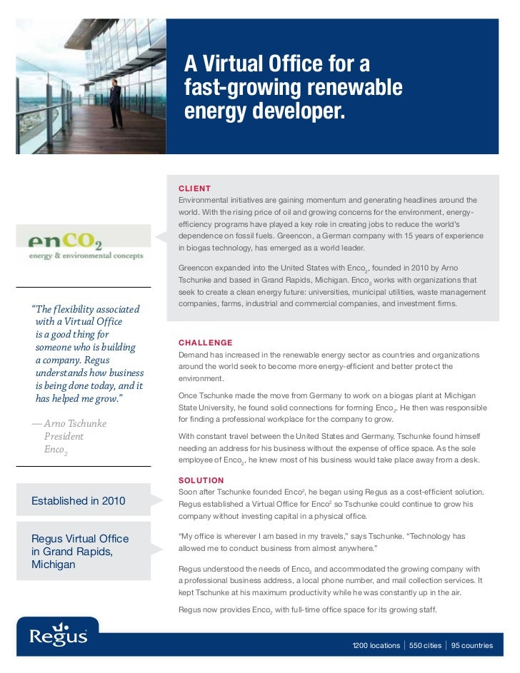 A Virtual Office for a                                fast-growing renewable                                energy develop...