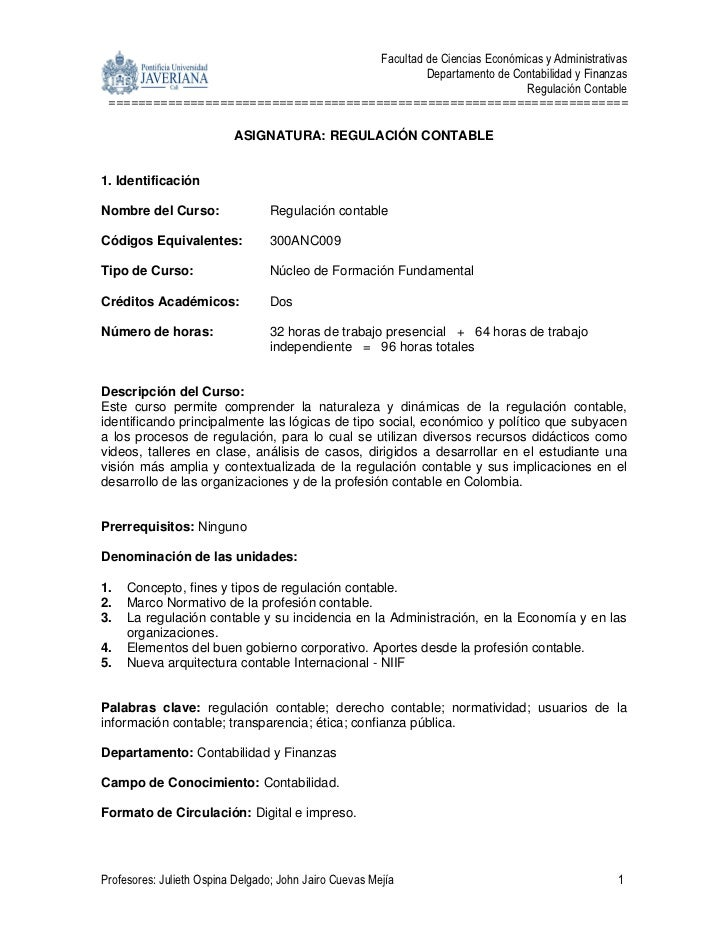 Facultad de Ciencias Económicas y Administrativas                                                                 Departam...