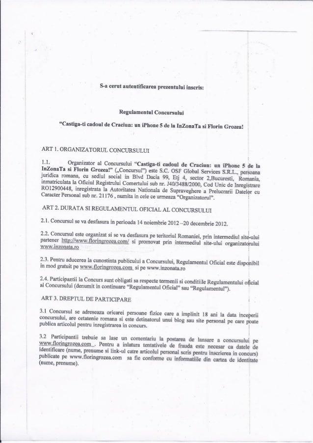 Regulament concurs InZonaTa - iPhone5