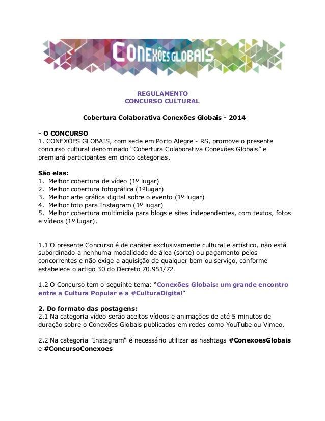 Regulamento Concurso Comunicação Colaborativa 2014