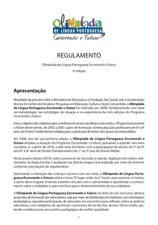 1 Apresentação Resultado da parceria entre o Ministério da Educação e a Fundação Itaú Social, sob a coordenação técnica do...