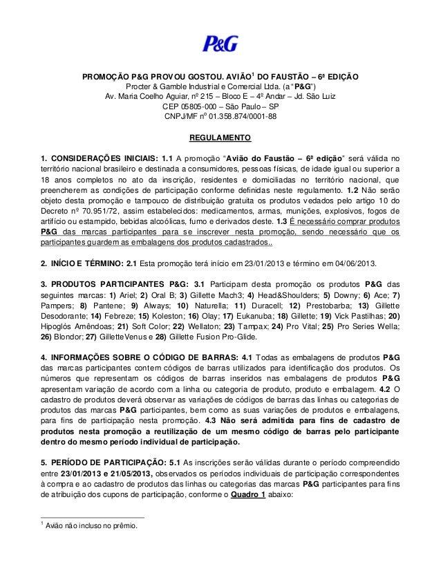 Regulamento p&g