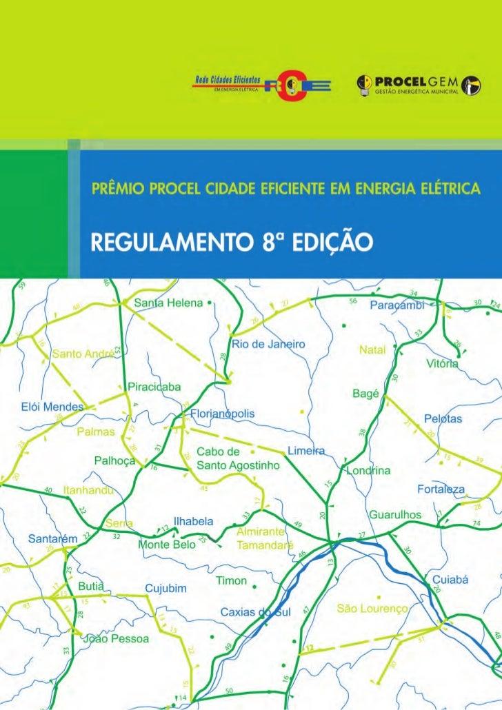 Regulamento prêmio cidade eficiente 8ª edição