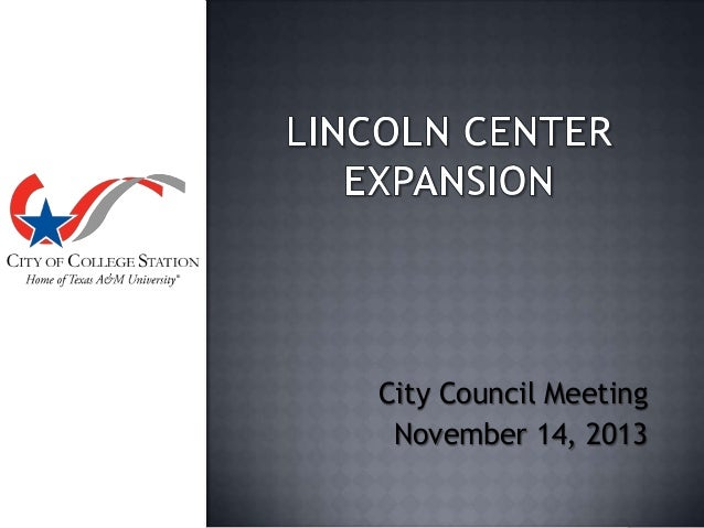 City Council Meeting November 14, 2013