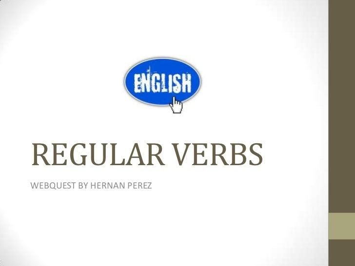 Regular verbs webquest
