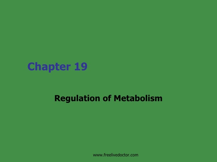 Chapter 19 Regulation of Metabolism www.freelivedoctor.com