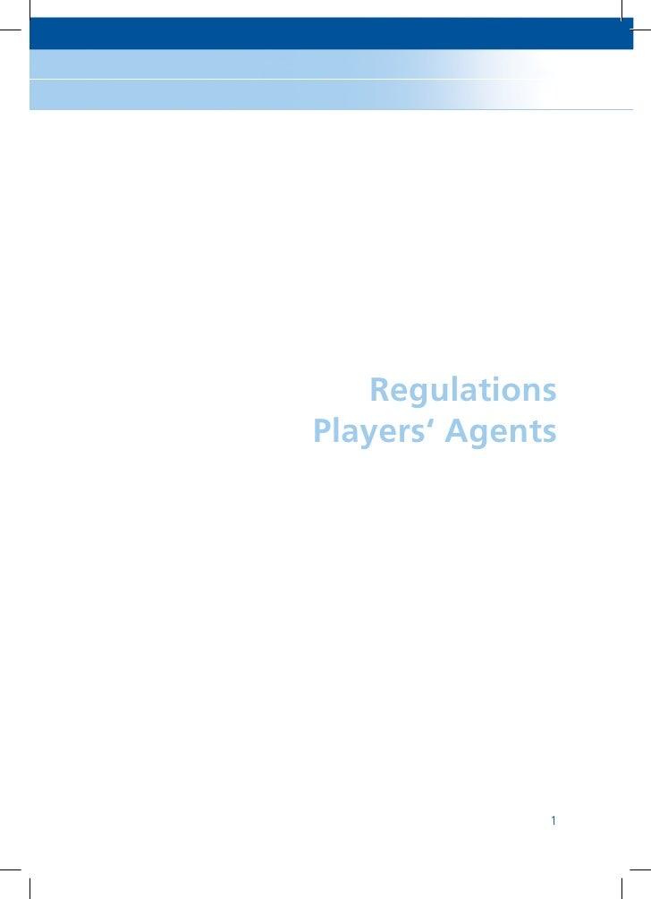 Regulations Players' Agents                   1