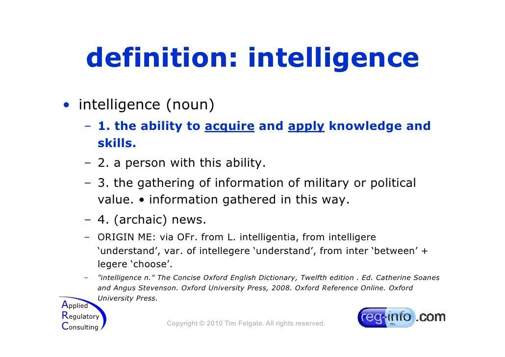 definition of intelligence essay