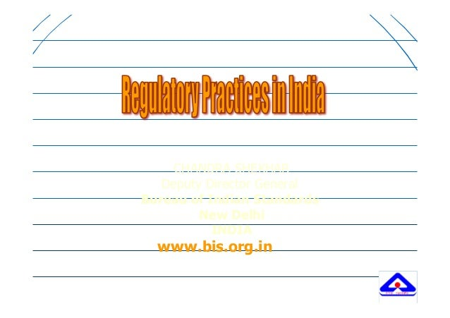 Regulatory Practices in India